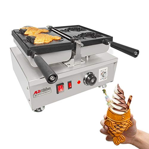 Great Features Of ALDKitchen Taiyaki Iron | Electric Taiyaki Machine | 2 Open-Mouth Fish Shaped Waff...
