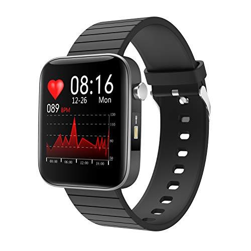 YoYoFit Smartwatch Fitness Armband mit Pulsuhren,Fitness Uhr mit Blutdruck,Taschenlampe,Pulsoximeter,1.54 Zoll Voll Touchscreen Sportuhr Wasserdicht Aktivitätstracker Schrittzähler Uhr für iOS Android
