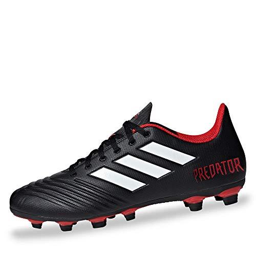 Adidas Predator 18.4 FxG, Botas de fútbol Hombre, Negro (Negbás/Ftwbla/Rojo 001), 41 1/3 EU