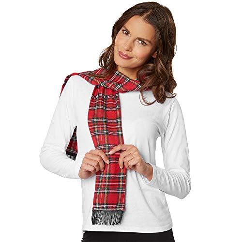 TecTake dressforfun 303408 Damen Schal kariert mit Schottenmuster, ideal auch zum Verkleiden, z.B. als Schneemann