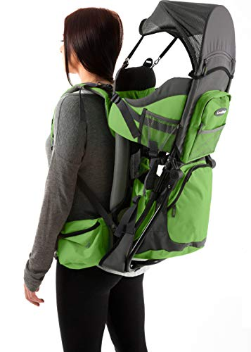 Premium Baby Backpack Carrier for Hiking with Kids – Carry your Child Ergonomically (Green/Grey)…
