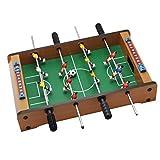 SaniMomo Tischkicker Tischfußball, Minispiel - mobiles Tischfußballspiel, 4 Spielstangen 2 Bälle für Erwachsene und Kinder