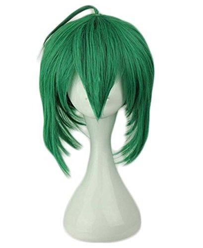 etruke Anime court vert droite Lolita Cosplay Perruques