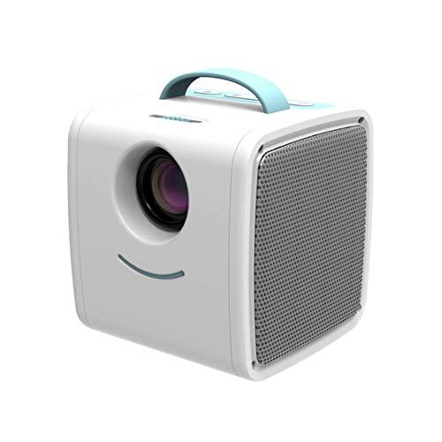 YYZLG Q2 Mini Micro Proyector Inicio LED Proyector Proyección para niños HD 1080P-whiteblue