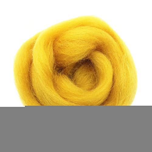 Qitao Wollfilz Farben 5g / 10g / 20g / 50g / 100g Filzwolle-Filz Stoff Filz Craft Spielzeug Filzwolle Handgemachte Filzen Craft (Color : 101, Size : 100g)