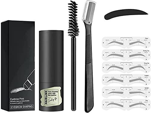 EYYC Eyebrow Stamp Waterproof - Brow Stamp Shaping Kit Eyebrow Definer,for Women Eyebrow Makeup (Dark-GreyB)