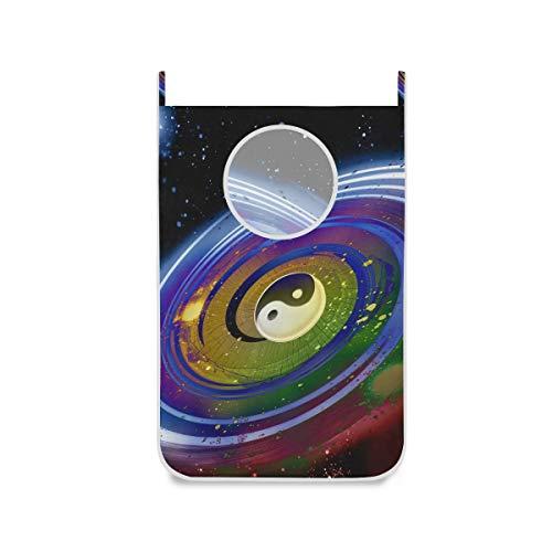 XiangHeFu Cesta de Oficina Bolsa de Tela Cesto de lavandería Grande Plegable Starry Night Universe...