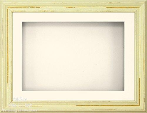 Anika-Baby 29,2 x 21,6 cm Style shabby chic Cadre 3d/1 trou Passe-partout crème