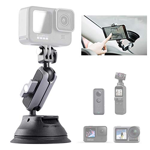 PGYTECH Suction Cup Mount Compatible for OSMO Pocket 2, Gopro 9, Gopro 8, Gopro MAX, OSMO Action, OSMO Pocket, Insta360 ONE X, ONE R, ONE, Action Cameras, Phone