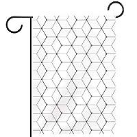 庭の装飾の屋外の印の庭の旗の飾り六角形のパターンホワイトの幾何学 テラスの鉢植えのデッキのため