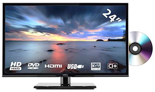 HKC 24C2NBD (24 Pulgadas) Televisor LED con Reproductor de DVD (HD Ready, Triple Tuner (DVB-C / -T2 / -S2), Ci+, HDMI, Reproductor de Medios a través de USB 2.0)