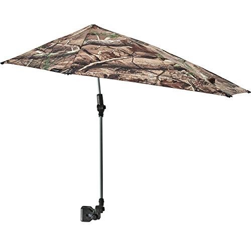 Sport-Brella Versa-Brella SPF 50+ Adjustable Umbrella with Universal Clamp, Regular, Camo