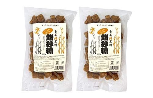 無添加 奄美 純黒糖餅砂糖 300g×2個 ★ コンパクト ★鹿児島県奄美大島産農薬不使用さとうきび100%使用、 風味豊かで餅のように柔らかい食感です 。お茶請けにもどうぞ。