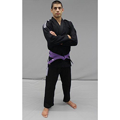 adidas Contest 2.0 BJJ/IBJJF Zugelassen/Brazilian Jiu Jitsu/Gi/Kimono/Anzug/Farbauswahl/GRÖßENAUSWAHL (Schwarz, A3 (180cm-190cm))
