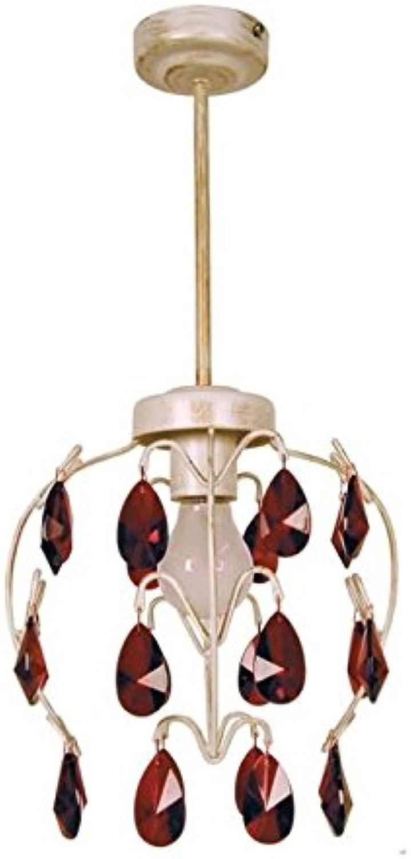 PAMPILLES Lustre acier verre verre verre 60x60x90 cm Weiß Et lila B079HZFJV4 | Angenehmes Aussehen  5f6636