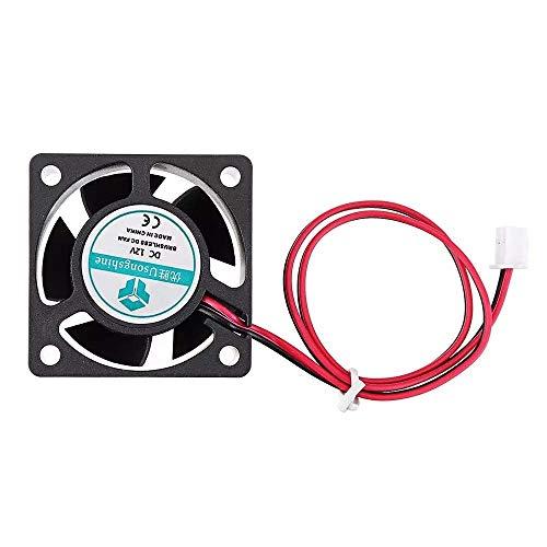 Yongenee Ventilador de refrigeración 12 V 40 40 20 mm 4020 rodamiento de bolas manga con cable 2pin 3D impresora partes Accesorios