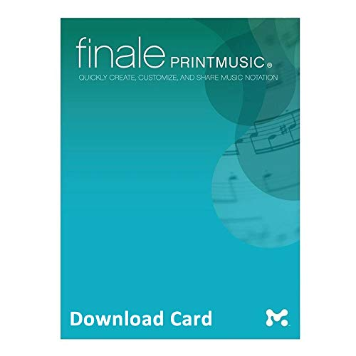 Finale PrintMusic 2014 for Windows (Download Card) – Music Notation Software