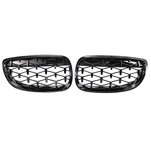 ZHANGJN Nierengrill, Frontnierengrill, Fronthaube Diamantgrill Meteorgrill for-BMW 3er Coupe E92 E93 M3 2006-2010
