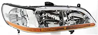 Headlight Lens and Housing Compatible with 2001-2002 Honda Accord Passenger Side