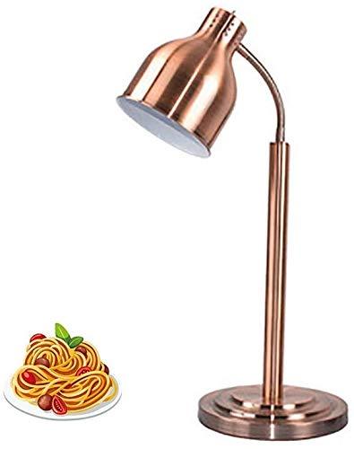 Lámpara de mesa estilo tradicional antiguo-acero inoxidable a base -E27 / 250W-alimentos calefacción de calefacción - mesa de comedor, mesa de café usada para mantener la temperatura alimentaria