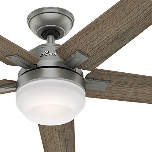 Hunter Fan 54 inch Contemporary Matte Silver Indoor Ceiling Fan...