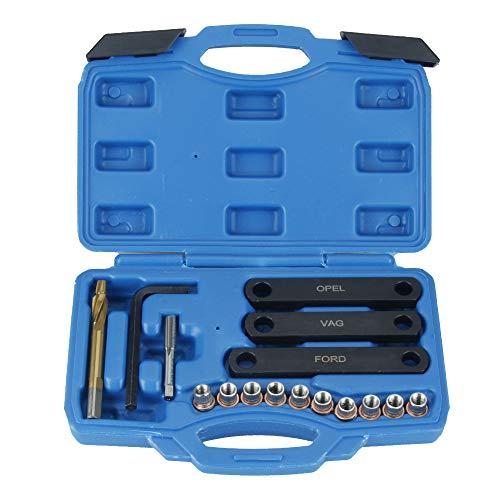 Ajcoflt M9 x 1,25 Reparatursatz für Bremsgewinde Bremssattelführung Gewindereparaturwerkzeug