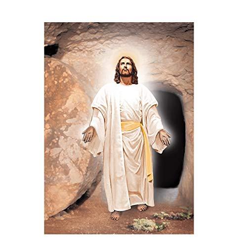 ATggqr Cristo Jesús Religioso Famoso 1000 Piezas Adultos Niños Rompecabezas Descompresión Juego de Rompecabezas Tema Familiar Rompecabezas Halloween 50x75cm