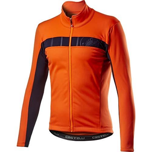 castelli Mortirolo VI Jacket, Giacca Sportiva Uomo, Orange, S
