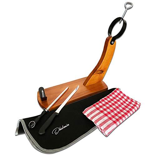 Dhabmin Schinkenhalter Gondola Stil + Abdeckung Schinken Küchenhandtuch