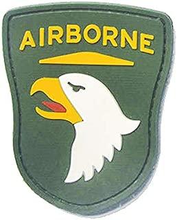 Morton Home 101st Airborne Division Rubber Badges PVC Rubber 3D Patch (Green)