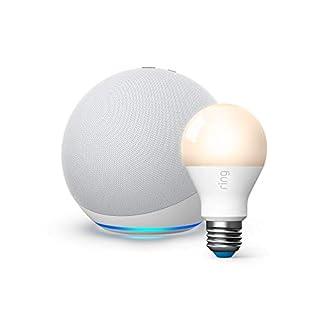 All-new Echo (4th Gen) - Glacier White - bundle with Ring A19 Smart LED Bulb (B08M1Q2YZL) | Amazon price tracker / tracking, Amazon price history charts, Amazon price watches, Amazon price drop alerts