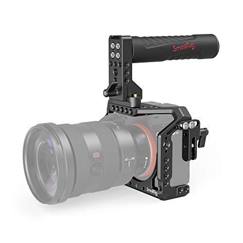 (Aktualisierte Version ) SMALLRIG A7III Kamera Cage Kit für Sony A7RIII / A7III mit Top NATO Handle und HDMI Cable Clamp - 2096