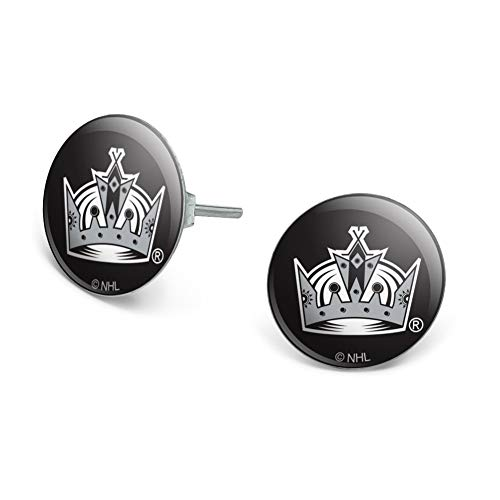 GRAPHICS & MORE NHL Los Angeles Kings Logo Novelty Silver Plated Stud Earrings