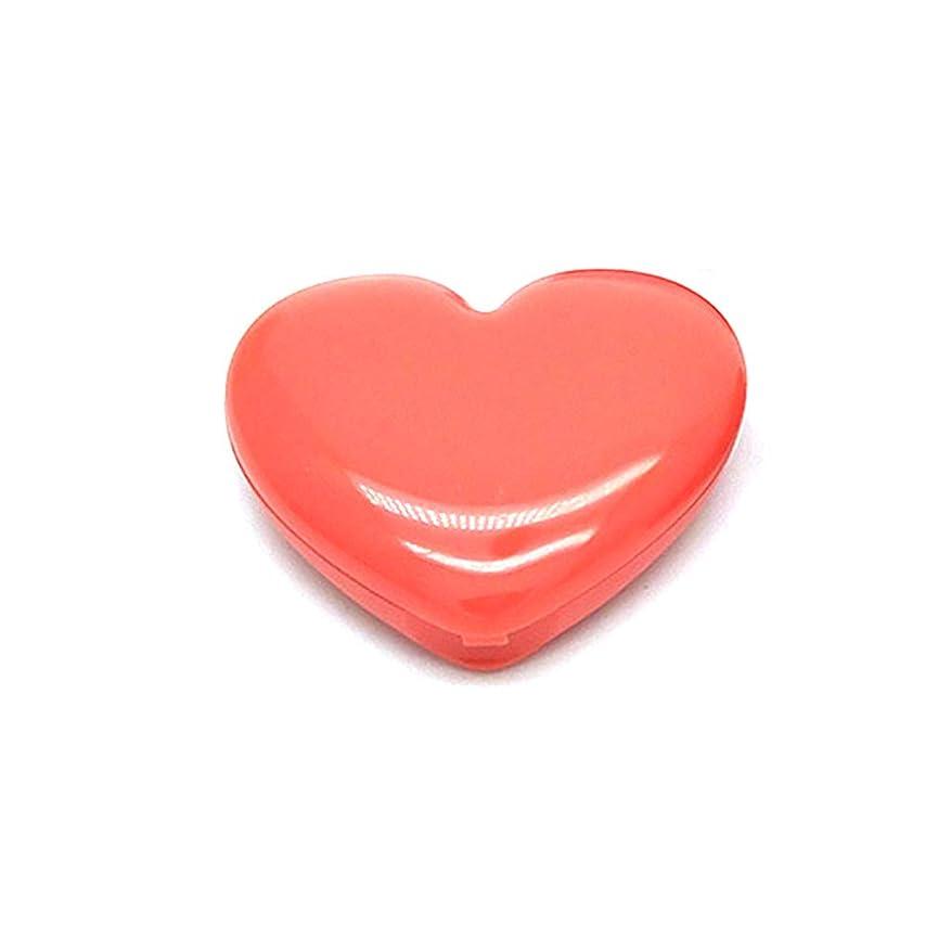 電信参照する正規化Dabixx 愛ハート形空アイシャドウケースルージュ口紅ボックス顔料パレット詰め替え式ファンデーション化粧ディスペンサー付きアルミパレットミラー - オレンジ