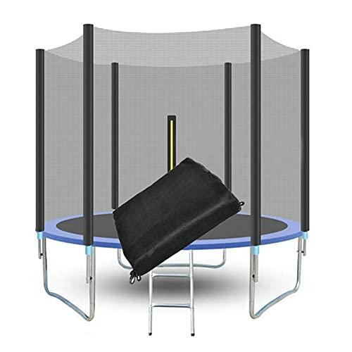 GZWY Red de seguridad de repuesto para cama elástica de 244 cm de diámetro, resistente a los rayos UV y a los desgarros, red de seguridad para cama elástica (244 cm, 6 barras)