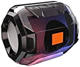 hoatzin Powerpact Stereo Audio deep bass Portable Rechargeable Splash/Waterproof Flashing LED Light Best Wireless/Gaming/Outdoor/Home Audio Bluetooth Speaker/Speakers with tf/FM Slot /005 (Black)