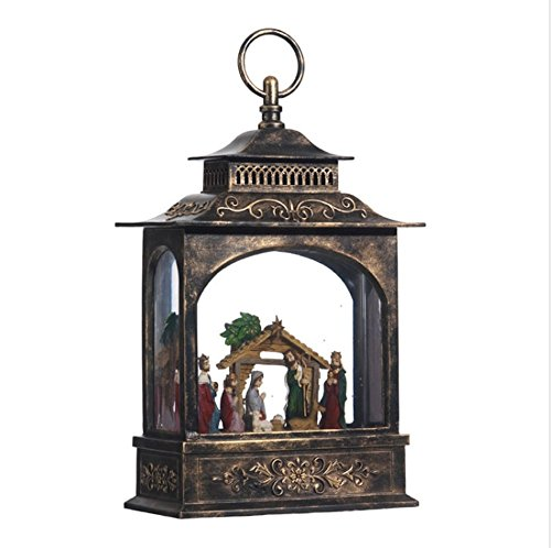 "Raz Imports 11"" Nativity Lighted Water Lantern"