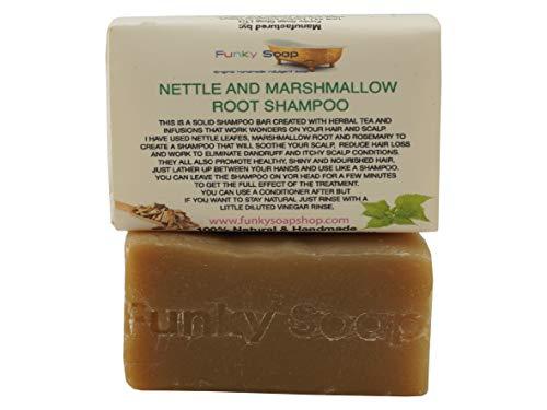 Funky Soap Marshmallow Racine Ortie Shampooing Barre Naturel et Fait Main 120g