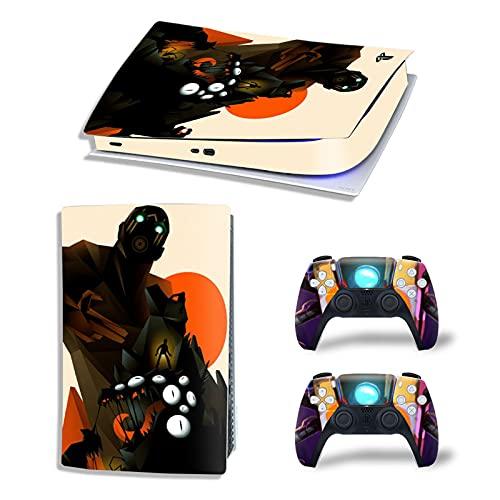 AOO para la película Protectora de la Piel PS5, Etiqueta de la Cubierta Protectora de película PVC para la Piel del Controlador PS5 para Playstation 5 Degetal de la Gamepad,B