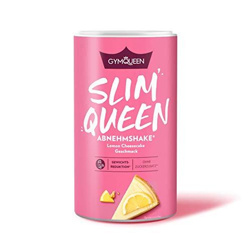 GymQueen Slim Queen Abnehm Shake 420g, Leckerer Diät-Shake zum einfachen Abnehmen, Mahlzeitersatz mit wichtigen Vitaminen und Nährstoffen, 250 kcal pro Portion ohne Zucker-Zusatz, Lemon Cheesecake