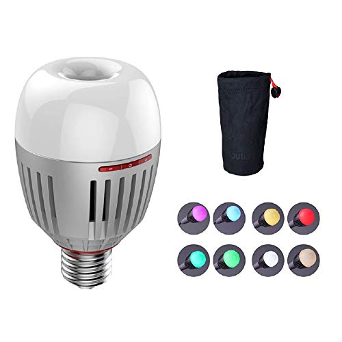 Aputure Accent B7C LED Bulbs,7W RGBWW LED Smart Bulb,TLCI 96+ CRI 95+ 2,000K-10,000K Adjustable 0-100% Stepless Dimming CCT/HSI/FX Mode Sidus Link App Control Built-in Battery