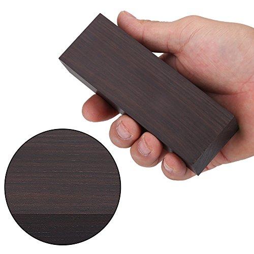 DIY Material für Musikinstrumente Werkzeuge, Ebenholz Holz Lumber Blank DIY Material für Musik Instrumente Werkzeuge 12 * 4 * 2,5 Schwarz