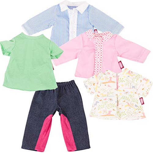 Götz 3403114 Baby Doll Combo Riding in Style - Size M - Dolls Clothing / Accessory Set - Suitable For Baby Dolls Size M (42 - 46 cm)