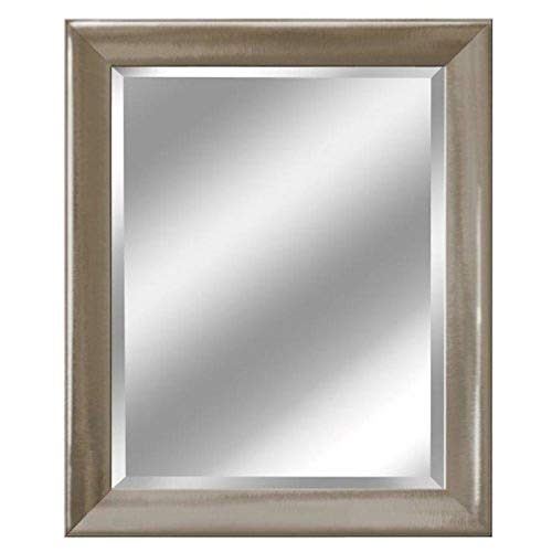 Head West Transitional Brushed Mirror, 29 by 35-Inch, -