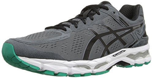 ASICS Men's GEL-Kayano 22 Running Shoe, Carbon/Black/Silver, 10 M US