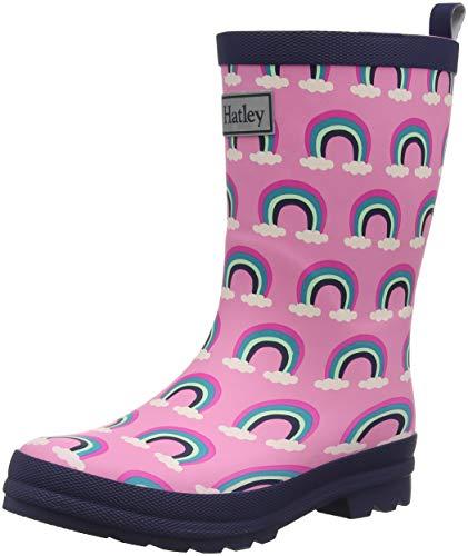Hatley Girls' Little Pretty Rainbows Rain Boots, 9 US Child