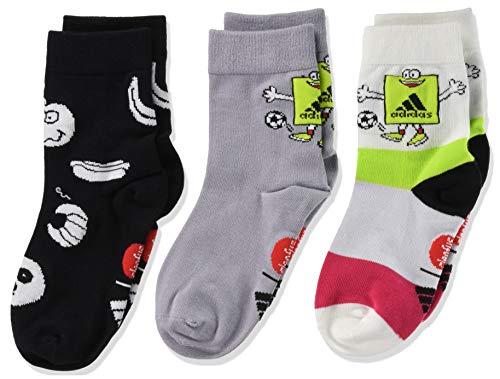 adidas Cleo CRW 3Pp Socken Calcetines Infantiles, Powpnk/Glogry/Negro, KS