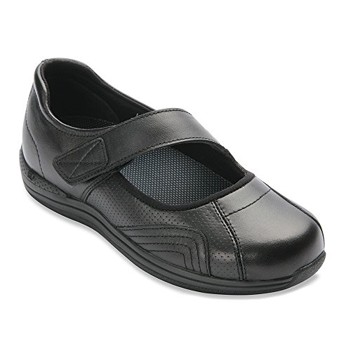 Drew Heather - Women's - Therapeutic Mary-Jane Black Calf - 5.5 Medium