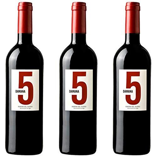 Damana Roble 5 Vino Tinto - 3 botellas x 750ml - total: 2250 ml