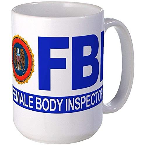 N\A Taza del Inspector del Cuerpo Femenino del FBI 11oz, Taza de café de cerámica 11oz KFWVU6